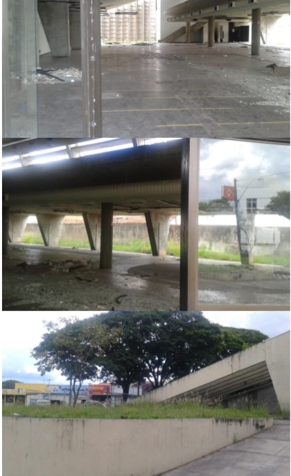 Prédio da antiga agência do Banco do Brasil é alvo de desocupados e delinquentes