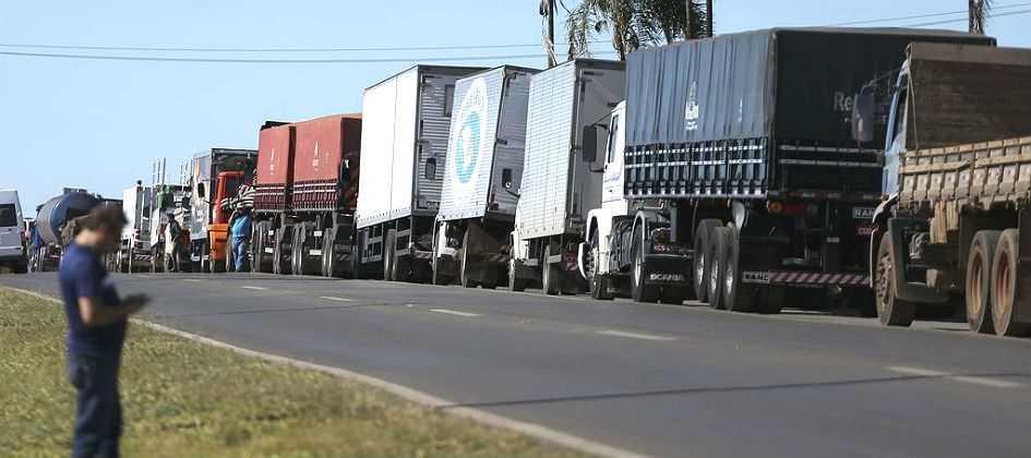 Região foi marcada nesta segunda-feira pela paralisação dos caminhoneiros nas rodovias